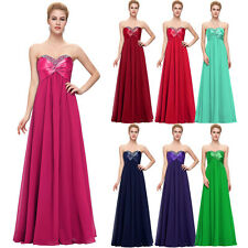 CHEAP~Elegant Long Chiffon Evening Formal Party Ball Gown Bridesmaid Prom Dress