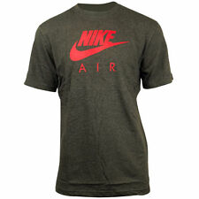Nike Air Classic Regular Fit Cotton T Shirt   Dark Grey Red Logo