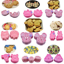 Plastic Cartoon Molds Fondant Cake Decorating Cookies Cutter Baking Tool Moulds