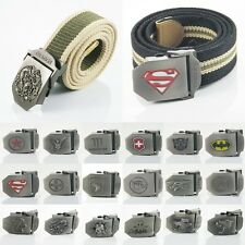 New Military Army Men Women Canvas Belt Stainless Steel Buckle 20 Styles U-Pick