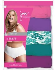 ONE Just My Size 1610W5 Cotton Brief 5-Pack (5) Panties Assorted Shades