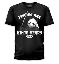 New Pandas are Ninja Bears With Sword Japanese Soft Mens fitted T-shirt top