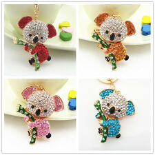 Cute koala Keychain bag charm purse Rhinestone keyring crystal lovely Gift