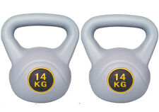 14 KG KETTLEBELL GYM TRAINING WEIGHT EXERCISE STRENGTH WORKOUT PAIR KETTLE BELL