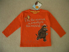 NEW BABY BOY GRUFFALO ORANGE LONG SLEEVE TOP T-SHIRT AGE 18-24 MTHS BNWT