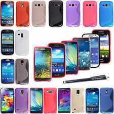 For Various Samsung Phones New S Line Wave Gel Back Skin Fits Case Cover +Stylus