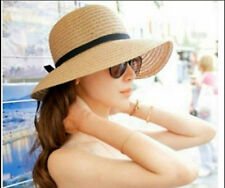 Women's Brim Summer Beach Sun Hat Straw floppy Elegant Bohemia cap