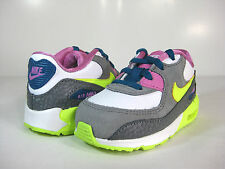 NIKE AIR MAX 90 2007 (TD) White/Volt Ice-Grey -408112 119- TODDLERS