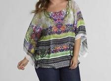 Women's Summer cocktail party dress blouse tunic Scarf Top&Cami Poncho plus1X 2X