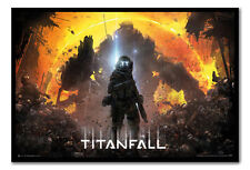 Framed Titanfall Militia Pilot Poster - Choice Of Frame Colours