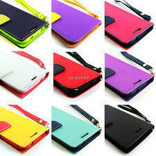 For Motorola Moto G Wallet PU Leather Folio Pouch TPU Case Cover Stand+Screen