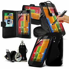 8 in 1 Wallet Bundle Accessory Case Holder Charger For Motorola Moto G