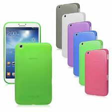 Transp Matte TPU Rubber Gel Case Cover for Samsung Galaxy Tab 3 8.0 / 8-inch