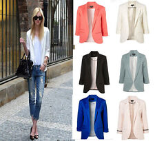 Hot!!New Fashion 6 Colors Women Candy Color Seventh Volume Sleeve Jacket Blazer
