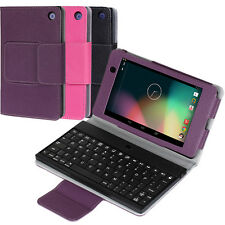 For Google Nexus 7 FHD 2nd Gen 2013PU Leather Bluetooth Keyboard Case Cover