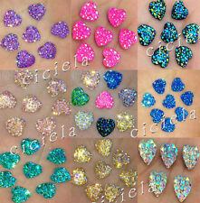 20/50X Heart Shape Rhine Stone Flatback Scrapbooking Craft/Jewelry DIY Findings