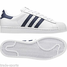 ADIDAS ORIGINALS MENS SIZE 7 8 9 10 11 12 WHITE/BLUE SUPERSTAR 2 TRAINERS SHOES
