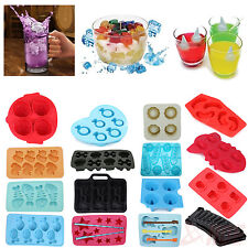 Multi-Shape Ice Cube Tray Chocolate Silicone Mold Jelly Maker Rubber Party Drink