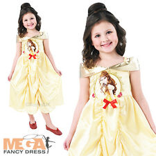Belle Beauty & The Beast Girls Fancy Dress Disney Princess Child Kids Costume