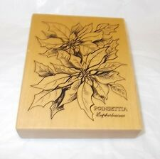 PSX Floral rubber stamp choices Poinsettia Iris Rosa rose K784 K 040 K 023 mntd