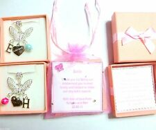 Butterfly Necklace Bridesmaid Flower Girl Pearl Initial in Personalised Gift Box