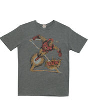 Marvel Comics Iron Man Blazin' Into Action Distressed Adult T-Shirt Tee