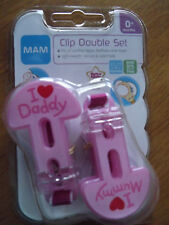 Mam  Baby Dummy/Soother Clip/Holder Boys Colours/Girls Colours Pink or Blue