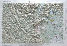 REDDING REGIONAL Raised Relief Map in the state of CA