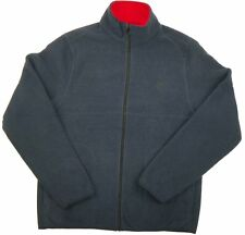 Men's IZOD Full Zip Polar Fleece Jacket, Navy with Red Trim