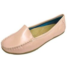 LADIES PINK PEARL SLIP-ON LOAFERS WOMENS COMFORT CASUAL MOCCASIN SHOES SIZES 3-7