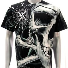 r16 Rock Eagle T-shirt SPECIAL Tattoo Skull Metal Magic Ring Men Fashion Biker