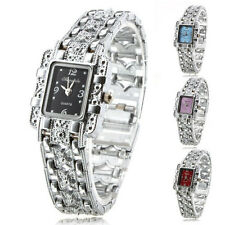 New Silver Girls Women Ladies Gift Analog Dress Bracelet Quartz Wrist Watches