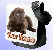 CHOCOLATE LABRADOR PERSONALISED SHOULDER / HAND BAG *Choice of 2 colours* GIFT