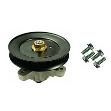 Spindle Assembly w/ Pulley & Self Tappers For MTD & Troy-Bilt Lawn Mowers