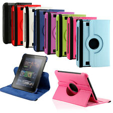 """360 Rotating PU Leather Case Cover with Stand For Amazon Kindle Fire HD 7"""" inch"""