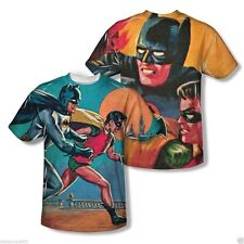 New Mens Batman Classic TV Let's Go Sublimation Vibrant Colors TShirt S-3XL