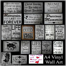 Wall Stickers - Removable Decal Transfer Modern Home Art Vinyl Decor Quote