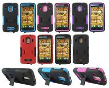 For Alcatel One Touch Fierce 7024W Heavy Duty Hard Hybrid Kickstand Case Cover