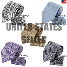 YAC2B02 In Bulking Various of Coloured Pattern Silk Ties Hanky 3PT By Y&G
