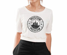 World Cities, Places Printed 100% Cotton Croptop Jumper Women T-shirt