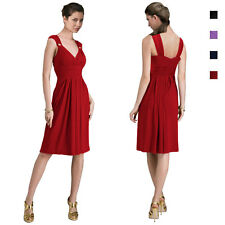 Light Shirred Stylish Knee Length Cocktail Party Day Dress co6029
