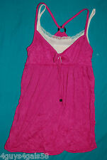 Womens Crinkle Smock PINK White Cami Insert XS 0-2 S 4-6 M 8-10 L 12-14 XL 16-18