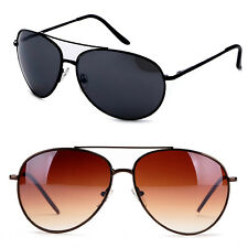 Classic Large Rounded Aviator Inspired 64MM Lens Sunglasses