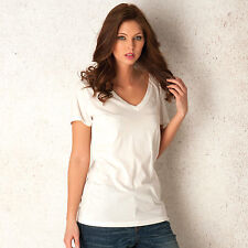 Womens Levi's Relaxed V Neck T-Shirt In White From Get The Label