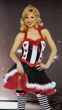 FANCY DRESS QUEEN OF HEARTS COSTUME SIZES 8 TO 18