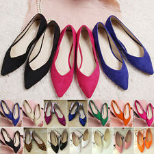 New Womens Comfort Pointed Toe Flats Casual Slip on Ballet Shoes Loafers Pumps