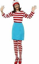 Wheres Wally Girlfriend Fancy Dress Wenda's Top Skirt Tights Hat n Glasses