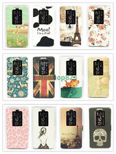 Window View Smart Sleep Wake Flip Leather Case Cover Stand For LG Optimus G2