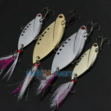 2 Color VIB Blade Metal Feather Fishing Lure Crankbaits Bass Crank Bait 10g/22g