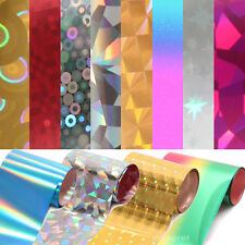 Nail Art Glitter Wraps Tips Decoration Transfer Foils Set With Free Adhesive Gel